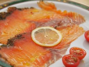 Salmon marinado Balneario Solán